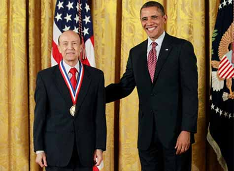 Dr. Gholam Peyman Receives The National Medal of Innovation and Technology from President Obama